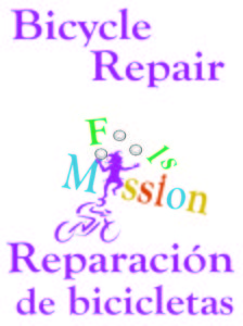 Bicycle repair is another service that Fools Mission offers to the community.