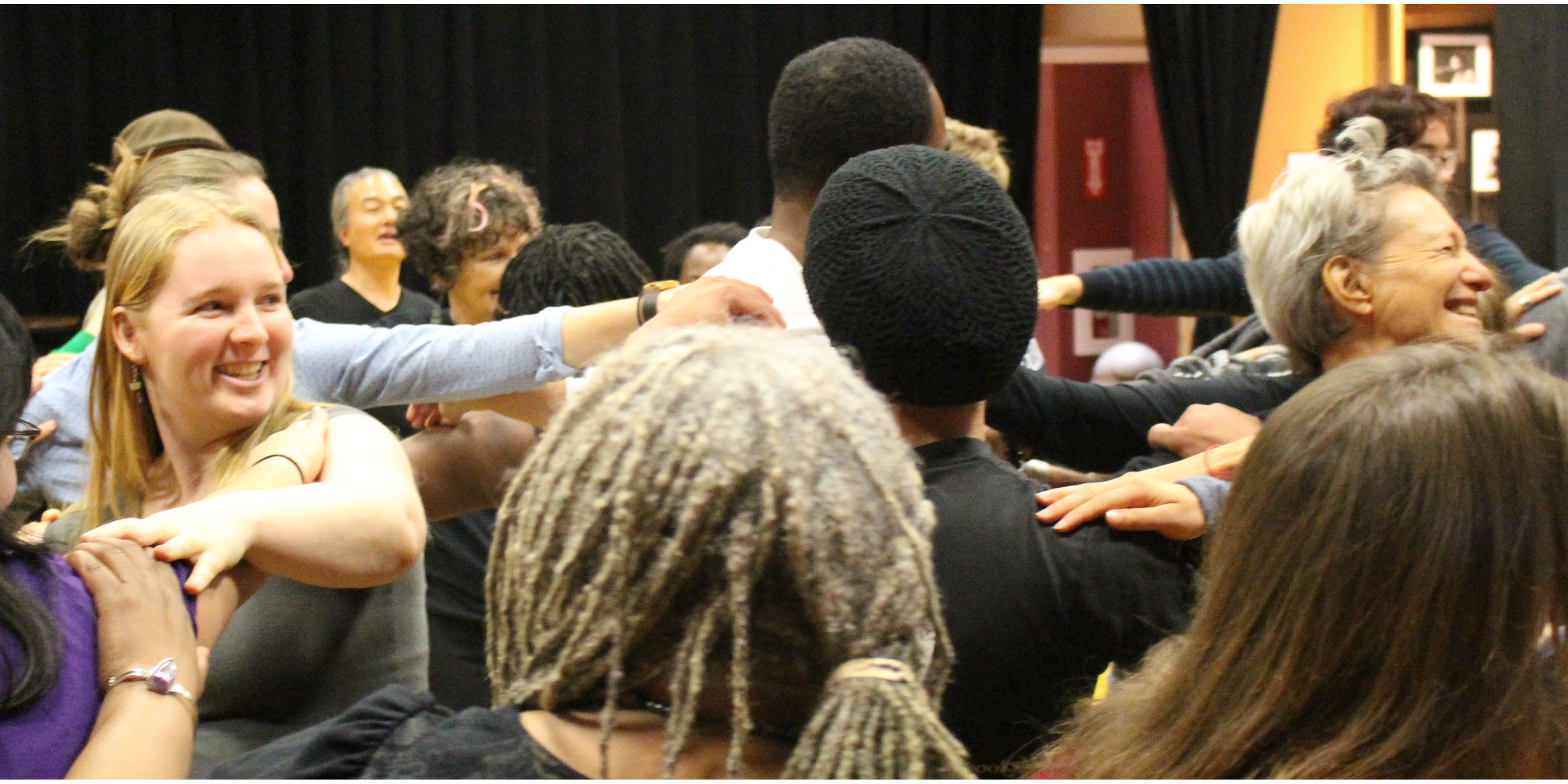 Jiwon Chung leads a Theatre of the Oppressed workshop